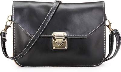 Bags Craze Women Black PU Sling Bag