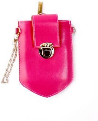 Mayursflora Women Pink Leatherette Sling Bag