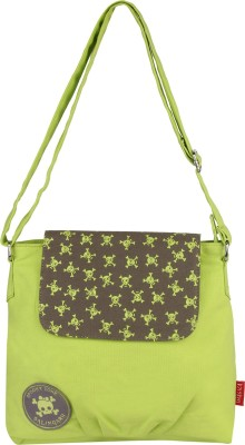 Imagica Women Casual Green Canvas Sling Bag