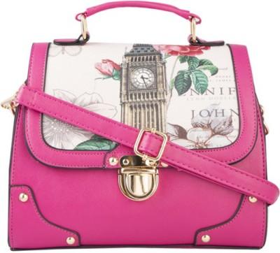 Legal Bribe Women Pink PU Sling Bag