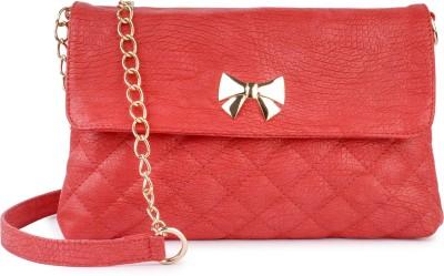 Lychee Bags Women Casual Red PU Sling Bag