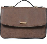 Diana Korr Women Casual Brown PU Sling B...