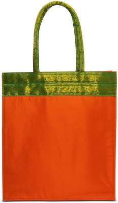 Cascara Women Orange Polyester Tote