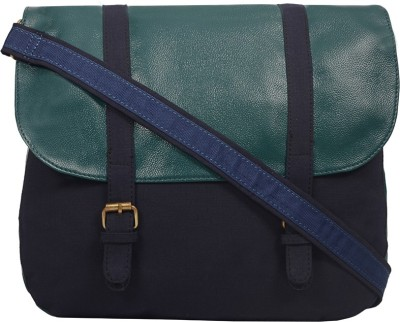 Purseus Women Casual Blue Canvas Sling Bag