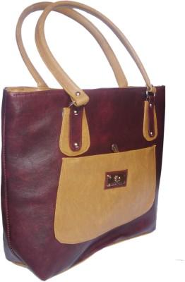 WEEBILL Women Maroon, Beige PU Shoulder Bag