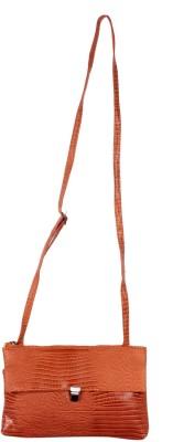 Reedra Women Orange PU Sling Bag