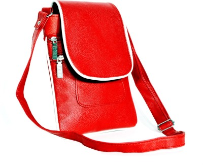 D Jindals Women Formal Red PU Sling Bag