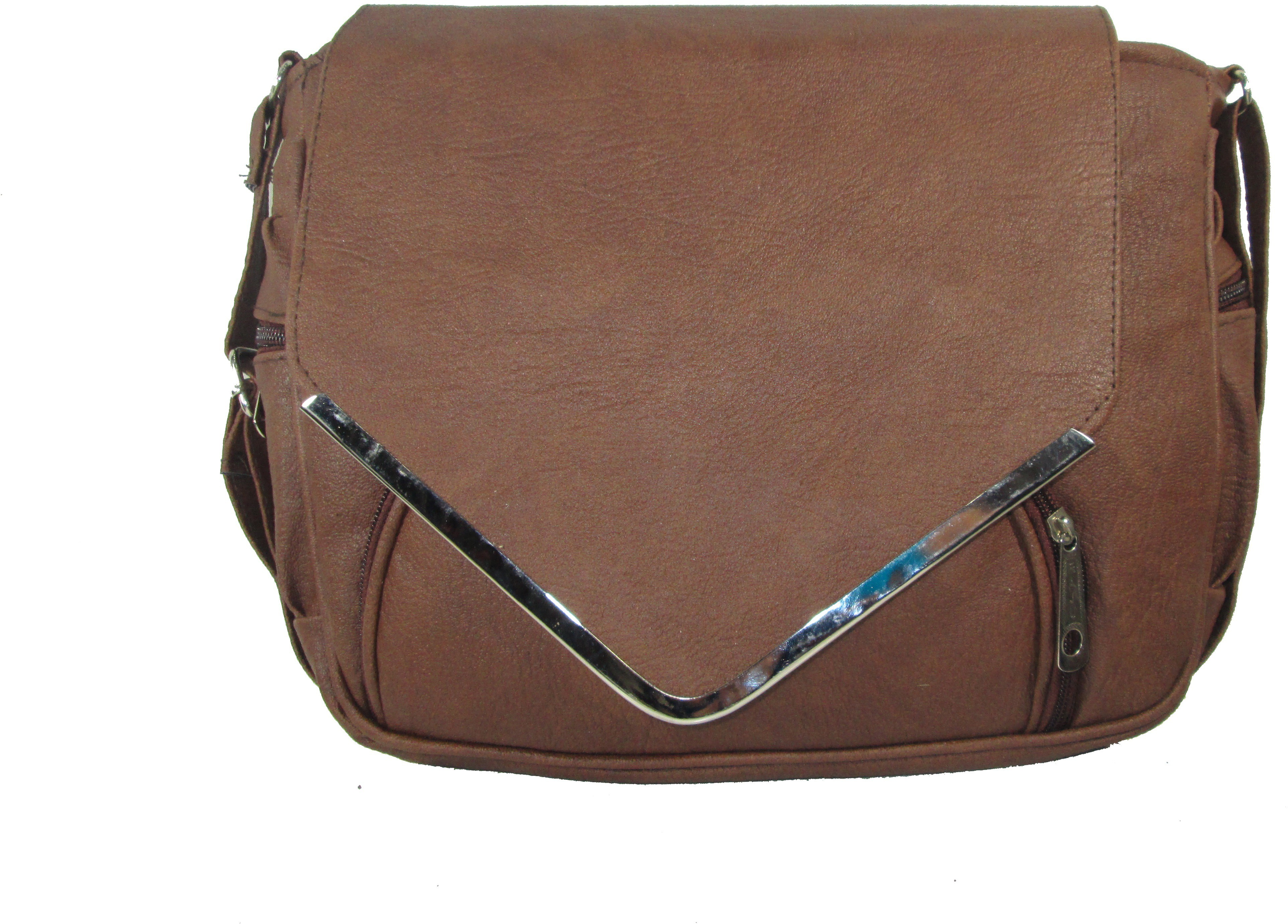 Sling bag below 500 - Raju Purse Collection Women Brown Pu Sling Bag