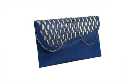 Heels And Toes Women Blue Rexine Sling Bag