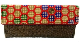Luxury Living Women Red Jute Clutch