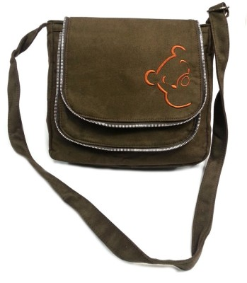 Belladona Women Evening/Party Brown Leatherette Sling Bag