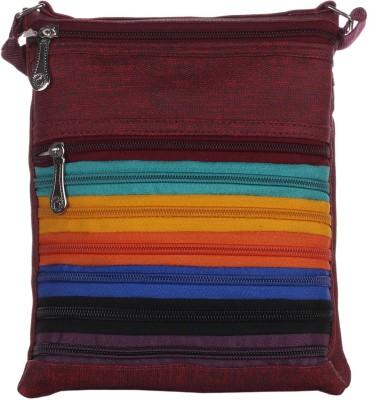 Mela Women Maroon PU Sling Bag