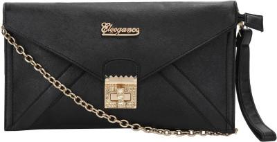 Eleegance Women Evening/Party Black, Gold Polyester Sling Bag