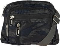 JG Shoppe Men Black Polyester Sling Bag