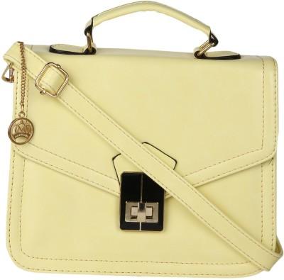Moedbuille Women Yellow PU Sling Bag