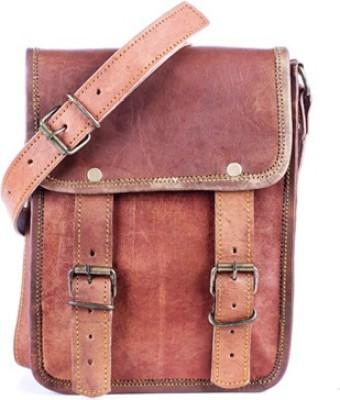 Goatter Boys, Girls Brown Genuine Leather Sling Bag
