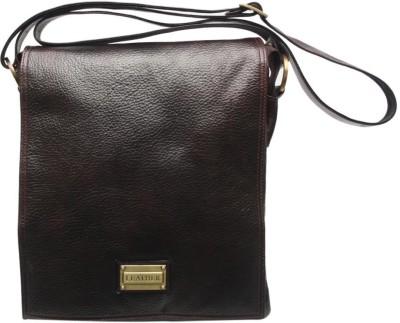 Chanter Men, Women Casual Brown Genuine Leather Sling Bag