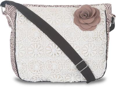 pickpocket Girls Brown Canvas Sling Bag
