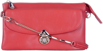 RI2K Women, Girls Evening/Party, Casual, Festive Red Genuine Leather Sling Bag