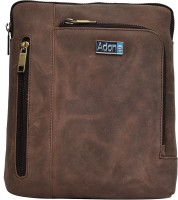 Adone Men & Women Brown Genuine Leather Sling Bag