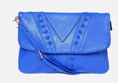 Hot Berries Women Casual Blue Leatherette Sling Bag