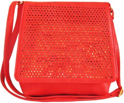 Kion Style Women, Girls Red Leatherette Sling Bag