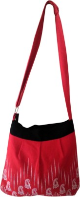 Fly Angels Women Red Canvas Sling Bag
