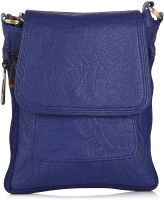 Alessia74 Women Blue PU Sling Bag