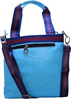 Firangi Women, Girls Blue Rexine Hand-held Bag