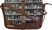 FUNK FOR HIRE Women Brown, Black Leatherette Sling Bag