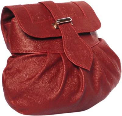 WEEBILL Girls Maroon PU Sling Bag