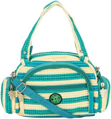 Glitters Girls White, Green Rexine Sling Bag
