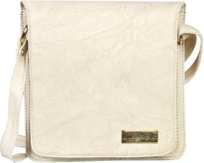 Louise Belgium Girls White Leatherette Sling Bag