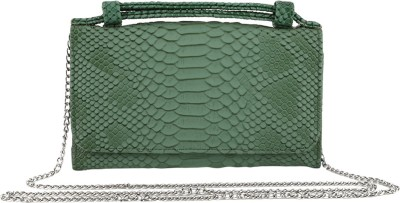 President Bags Women Evening/Party Green Polyester Sling Bag
