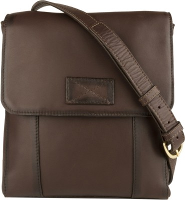 Hidesign Men Brown Genuine Leather Sling Bag
