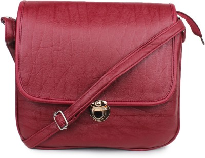 Star Style Women Red Leatherette Sling Bag