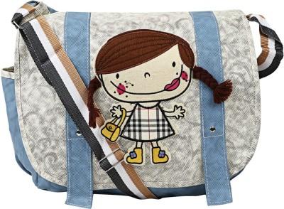 Coash Women Grey, Blue PU Sling Bag