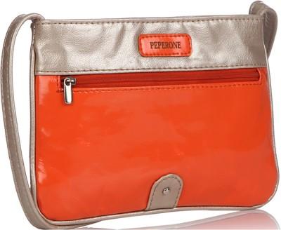 Peperone Girls, Women Orange PU Sling Bag