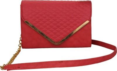 Do Bhai Women Red PU Sling Bag