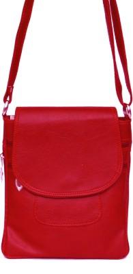 zasmina Girls Red Leatherette, PU Sling Bag