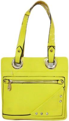 Zaira diamond Women Yellow Genuine Leather Hand-held Bag