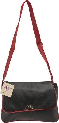 Fashion Knockout Girls, Women Black PU Sling Bag
