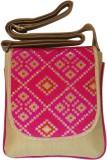Bhamini Women Pink Brocade Sling Bag