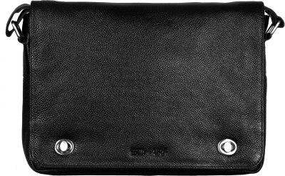 Scharf Men, Women Casual, Formal Black Genuine Leather Sling Bag