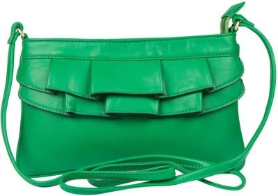 Lomond Women Green PU Sling Bag