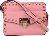 Star Style Women Pink Leatherette Sling ...