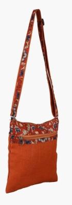 Jute Tree Women Casual Orange Jute Sling Bag
