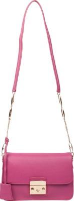 RI2K Girls, Women Pink Genuine Leather, Polyester Sling Bag