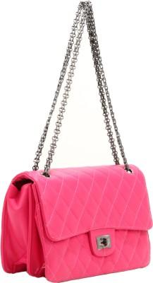 Liza Women Pink PU Sling Bag