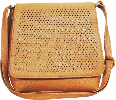 Kion Style Girls, Women Beige Leatherette Sling Bag